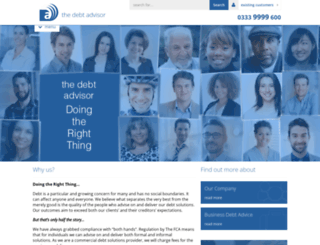 thedebtadvisor.co.uk screenshot