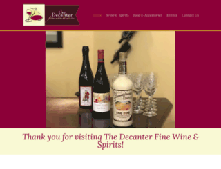 thedecanterfinewines.com screenshot