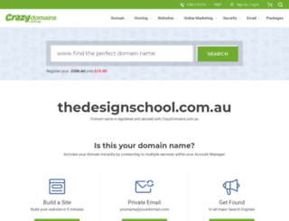thedesignschool.com.au screenshot