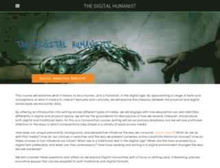 thedigitalhumanist.weebly.com screenshot