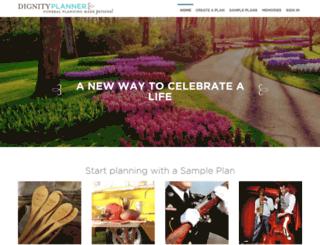 thedignityplanner.com screenshot