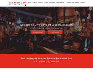 thedivebarfl.com screenshot