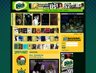 theduckwebcomics.com screenshot