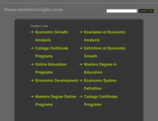 theeconomicinsight.com screenshot