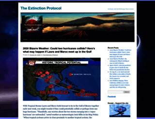 theextinctionprotocol.wordpress.com screenshot