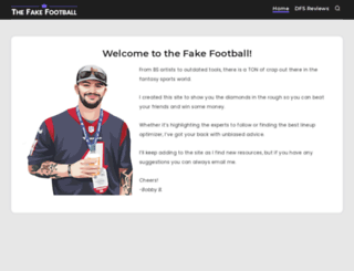 thefakefootball.com screenshot