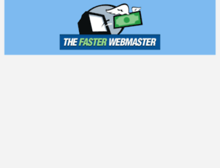 thefasterwebmaster.com screenshot
