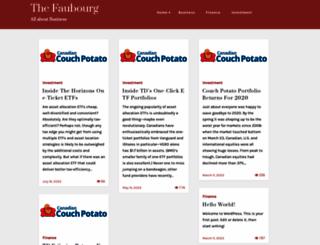 thefaubourg.com screenshot