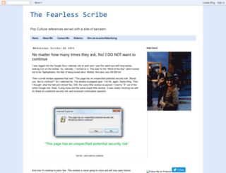 thefearlessscribe.blogspot.com screenshot