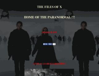 thefilesofx.com screenshot