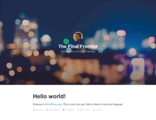 thefinalfrontier.wordpress.com screenshot