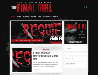 thefinalgirl.com screenshot