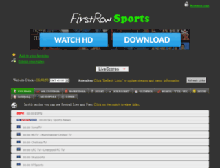 thefirstrow.eu screenshot