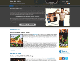 thefitlife.net screenshot
