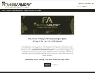 thefitnessarmory.com screenshot