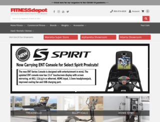 thefitnessdepot.com screenshot