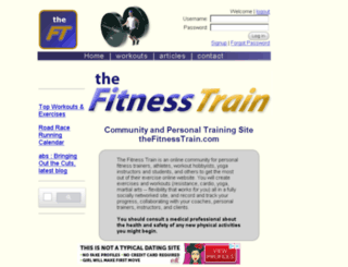 thefitnesstrain.com screenshot