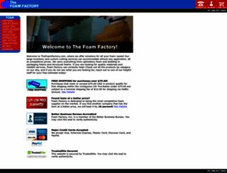 thefoamfactory.com screenshot