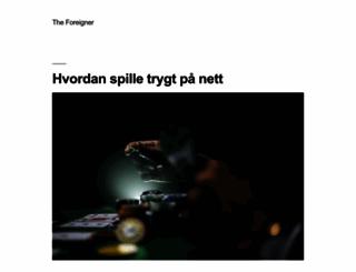 theforeigner.no screenshot