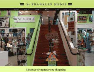 thefranklinshops.com screenshot