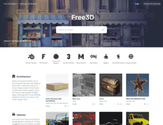 thefree3dmodels.com screenshot