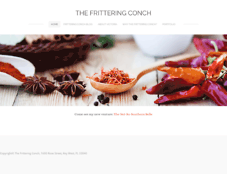 thefritteringconch.com screenshot