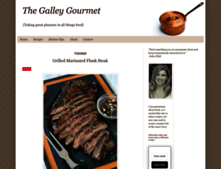 thegalleygourmet.net screenshot