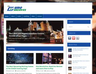 thegamearchives.com screenshot