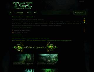 thegeekcrusade-serveur.com screenshot