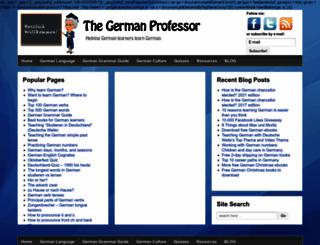 thegermanprofessor.com screenshot