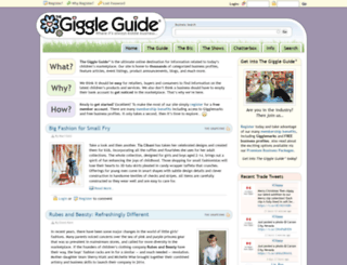 thegiggleguide.com screenshot