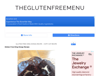 theglutenfreemenu.com screenshot