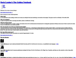 thegoldennotebook.org screenshot