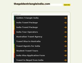 thegoldentriangleindia.com screenshot