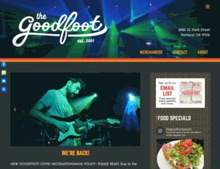 thegoodfoot.com screenshot
