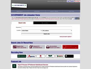 thegovernmentjob.com screenshot