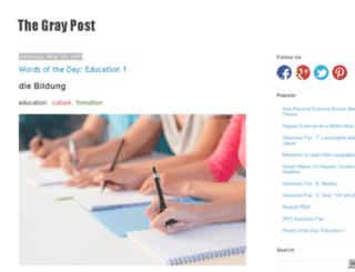 thegraypost.com screenshot