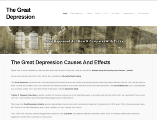 what are the causes and effects of the great depression