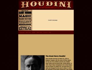 thegreatharryhoudini.com screenshot