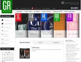 thegreenroomdev.baker-taylor.com screenshot