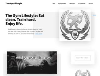 thegymlifestyle.com screenshot