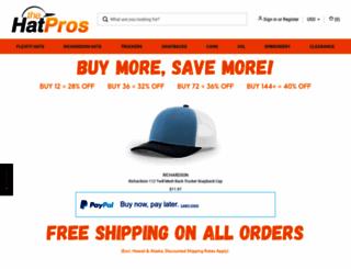 thehatpros.com screenshot