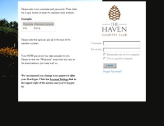 thehavencountryclub.clubsoftlinks.com screenshot