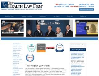 thehealthlawfirm.com screenshot