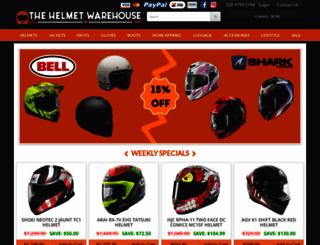 thehelmetwarehouse.com.au screenshot