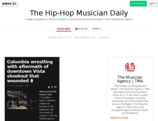 thehiphopmusician.com screenshot
