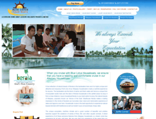 thehouseboatkerala.com screenshot