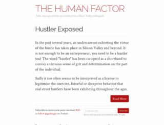 thehumanfactor.co screenshot
