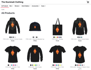 theilluminati.spreadshirt.com screenshot