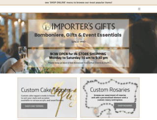 theimportersgifts.com screenshot